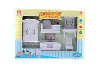 Животные флоксовые happy family Белая мебель для гостинной 012-11b в коробке 18*15*4,5см