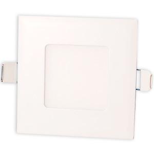 Светильник точечный светодиодный 3Вт врезной Biom квадратный теплый белый свет