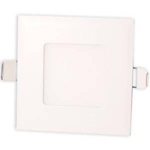Светильник точечный светодиодный 3Вт врезной Biom квадратный теплый белый свет, фото 2