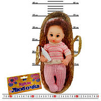 HU Кукла 133 MB (72шт) Любочка, 30см, в корзине, 35_15, звук, в кульке, 45_15_9см