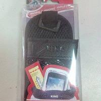 Подставка телефонная Карманчик тканевый черный