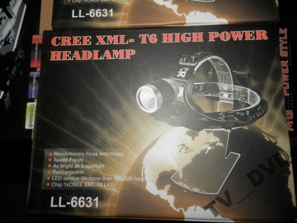 СВЕТОДИОДНЫЙ НАЛОБНЫЙ ФОНАРЬ LL-6631 на CREE диоде