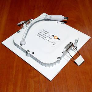 Светильник точечный светодиодный 6Вт врезной Biom квадратный нейтральный белый свет, фото 2