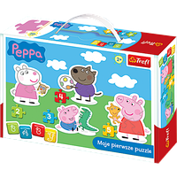 Пазлы для малышей серия Baby Trefl, свинка Пеппа