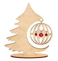 F-034 Набор новогоднее украшение из фанеры Лесная красавица