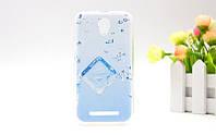 Силиконовый чехол на ZTE Blade L110 A110 с картинкой Кубик льда в воде