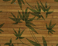 """Обои из бамбука """"Листья бамбука зеленые"""""""