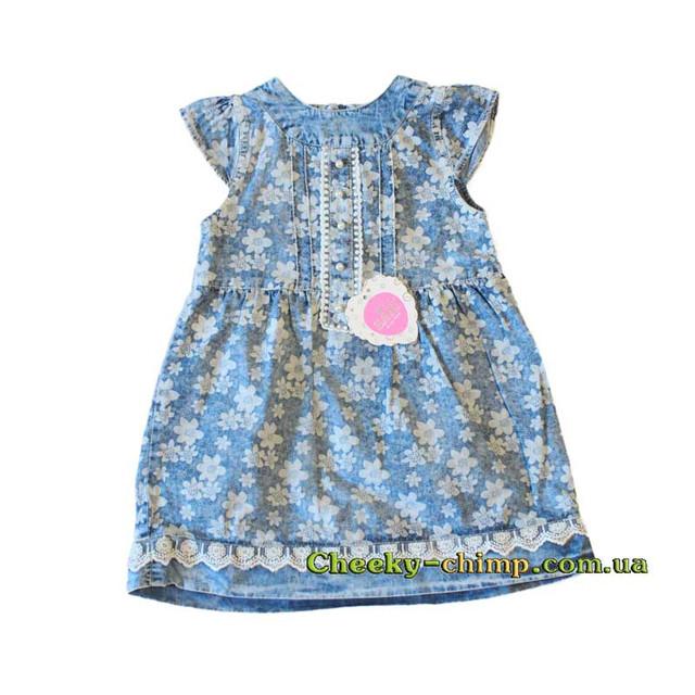 Джинсовое платье Бабочка 1-4 года