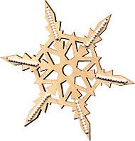 F-040 Набор новогоднее украшение из фанеры Зимние фантазии