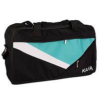 Спортивная дорожная сумка KAFA V008  black/green small
