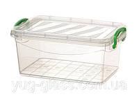 """Универсальная емкость с крышкой для продуктов 3000 мл 265x175x110 мм из пищевого пластика  """"M-403"""" 1 шт."""