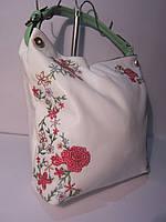 Сумка с вышивкой и стразами Velina Fabbiano розы