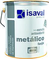 Антикоррозионная декоративная эмаль ISAVAL ФОРХА 4 л черный- создает эффект кованного металла