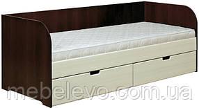 Кровать ДК-800 Уют МДФ  80х200 750х2030х830мм  Абсолют