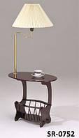 Кофейный столик SR-0752, кофейный столик с лампой и газетницей