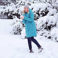 Зимняя Слингокуртка Бирюза 3 в 1 Куртка для беременных и слингомам Love & Carry Пальто new колекція 16