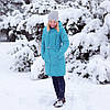 Зимняя Куртка для беременных 2 в 1 Бирюза Love & Carry Пальто  (Размер XS)