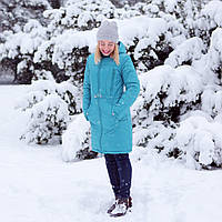 Зимняя Куртка для беременных 2 в 1 Бирюза Love & Carry Пальто  (Размер 34 S 36), фото 1