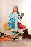 Костюм Снегурочка для девочки 4-11 лет. Детский новогодний карнавальный маскарадный костюм на Новый Год