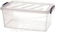 """Универсальная емкость с крышкой для продуктов 13500 мл 430x280x175 мм из пищевого пластика  """"M-409"""" 1 шт."""