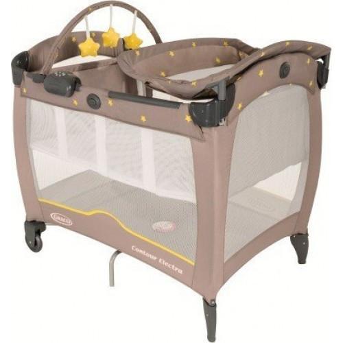 Манеж детский Graco CONTOUR ELECTRA, Neon Sand, коричневый (желтый) 9D78NSDE