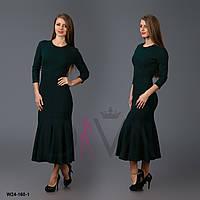 Платье женское с юбкой-клеш (креп-дайвинг) Арт. W24-160-1