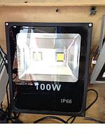 Прожектор ДВУХ диодный  IP65  100 W LEMANSO серый 6500К LMP2-100