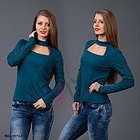 Гольф женский с декольте W24-1073-3 модная теплая одежда 2017