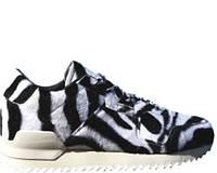 Кроссовки Adidas ZX 700 Remastered Zebra White Black  женские