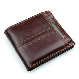 Шкіряний чоловічий компактний гаманець 8107-3Q