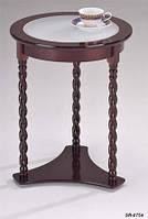 Кофейный столик SR-0754, деревянный круглый кофейный столик на точенных ножках