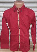 Стильная стрейчевая рубашка для мальчика 6-14 лет (бордо01) (пр. Турция)