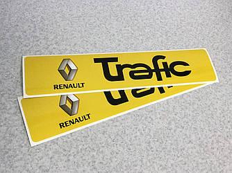 Наклейки на порожки (ЧЕРНО-ЖЁЛТЫЕ) на Renault Trafic 2001-> — Украина - TN104