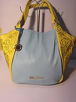 Роскошная желтая женская сумка с вышивкой и стразами Velina Fabbiano