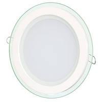 Светильник точечный светодиодный 6Вт врезной Biom круглый + стекло нейтральный белый, фото 1