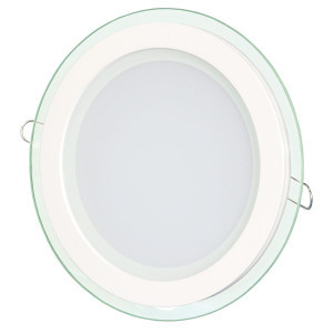 Светильник точечный светодиодный 12Вт врезной Biom круглый + стекло теплый белый свет