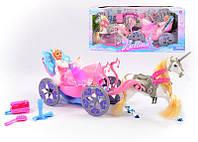 Карета 66276 (6) кукла, аксессуары, в коробке, ПОВРЕЖДЕННАЯ УПАКОВКА