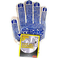 Перчатки трикотажные белые с ПВХ точкой Virok 83V002