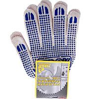 Перчатки трикотажные белые с ПВХ точкой Virok 83V004