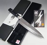 Купить нож кухонный японский Yaxell Zen Damascus Chef 200мм