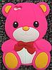 """Силиконовый ярко-розовый чехол """"Мишка"""" iphone 4/4S"""