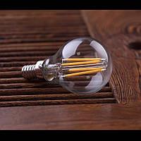 """LED лампа Эдисона P-45  (4w) E-14 (AMBER) """"NEW"""" filament"""