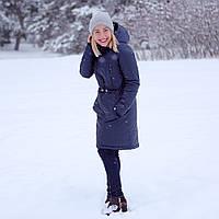 """Зимнее пальто для беременных """"Индиго"""" 2 в 1 Куртка + Вставка для беременных L & C Слингокуртка коллекция XS, фото 1"""