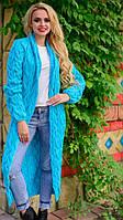 Кардиган-пальто вязаный