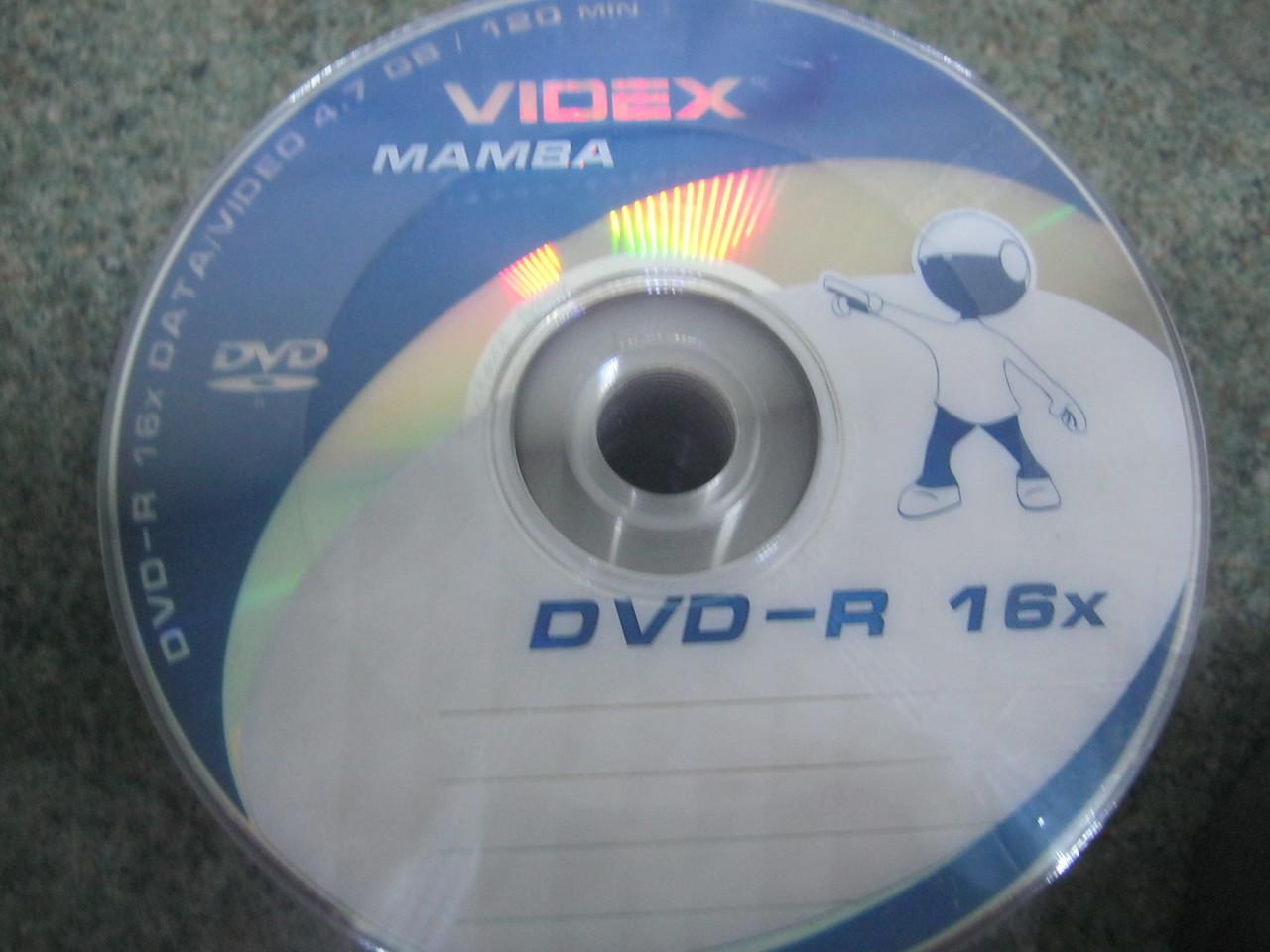 DVD - +  R Videx 16 x ( 50 и 10 шт)