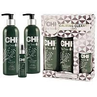 CHI TEA TREE OIL CALMING CLEANSE TRIO Набор для волос Чайное дерево