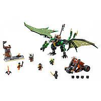 """Конструктор Ninja SY592 """"Зелёный энерджи дракон Ллойда"""" 661 дет"""