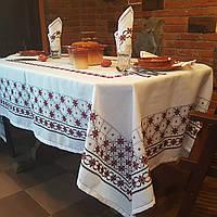Набор вышитая скатерть с салфетками ручной работы Бордо
