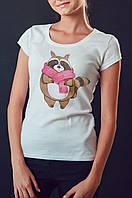 """Женская футболка """"Енот"""""""