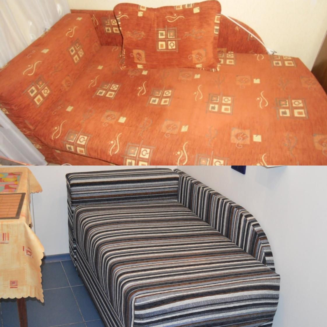 Перетяжка кухонного дивана